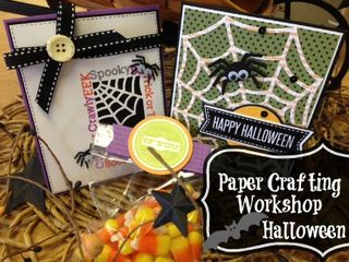 Papercrafting workshop halloween
