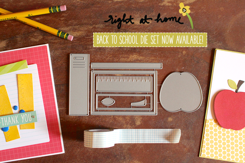 Right at Home Die Launch // Back to School Project Ideas